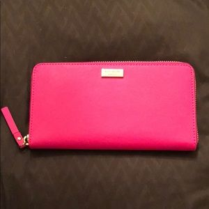 Brand new Kate Spade hot pink wallet